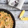 Paella csirkével és garnélával