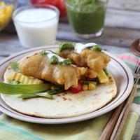 Fish and chips tortilla