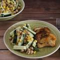 Édes chilis hal könnyű salátával