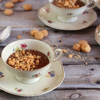 Amaretto-csoki puding