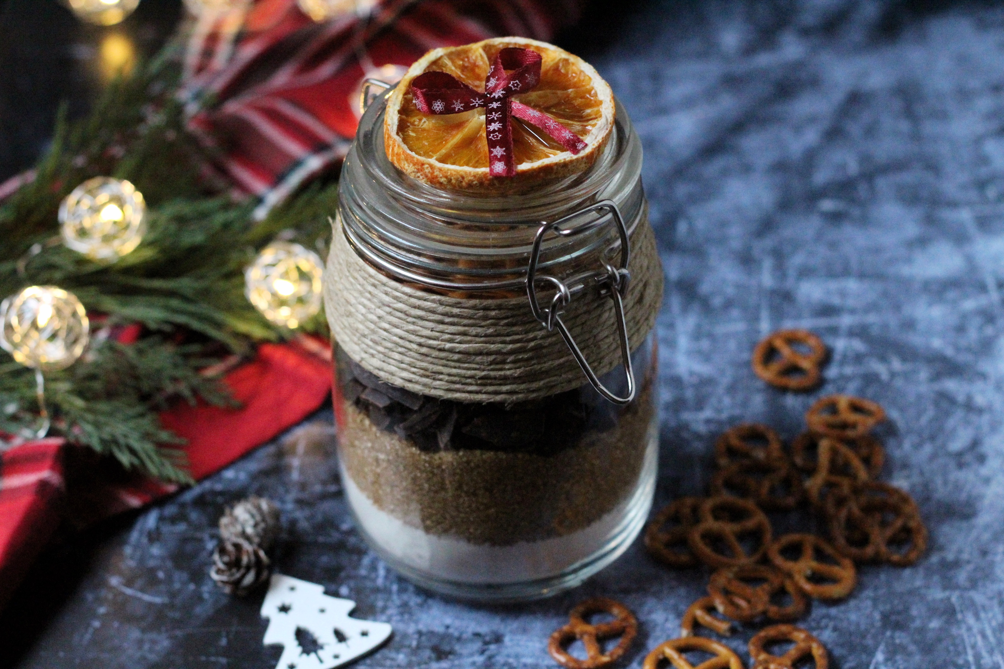 Brownie üvegből - gasztroajándék karácsonyra
