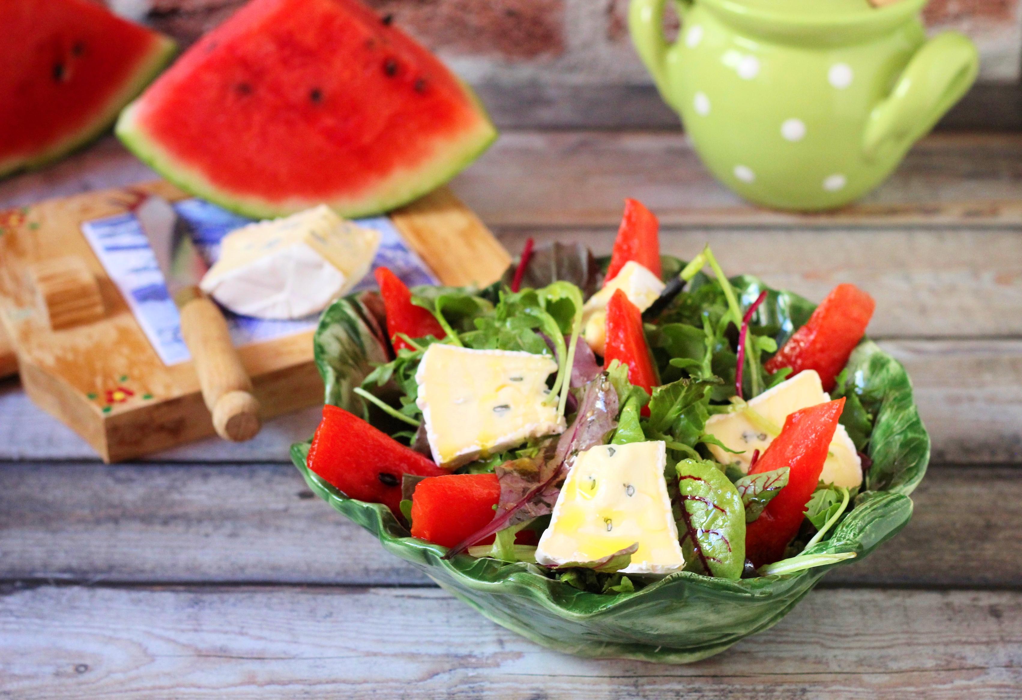 Grillezett görögdinnye saláta