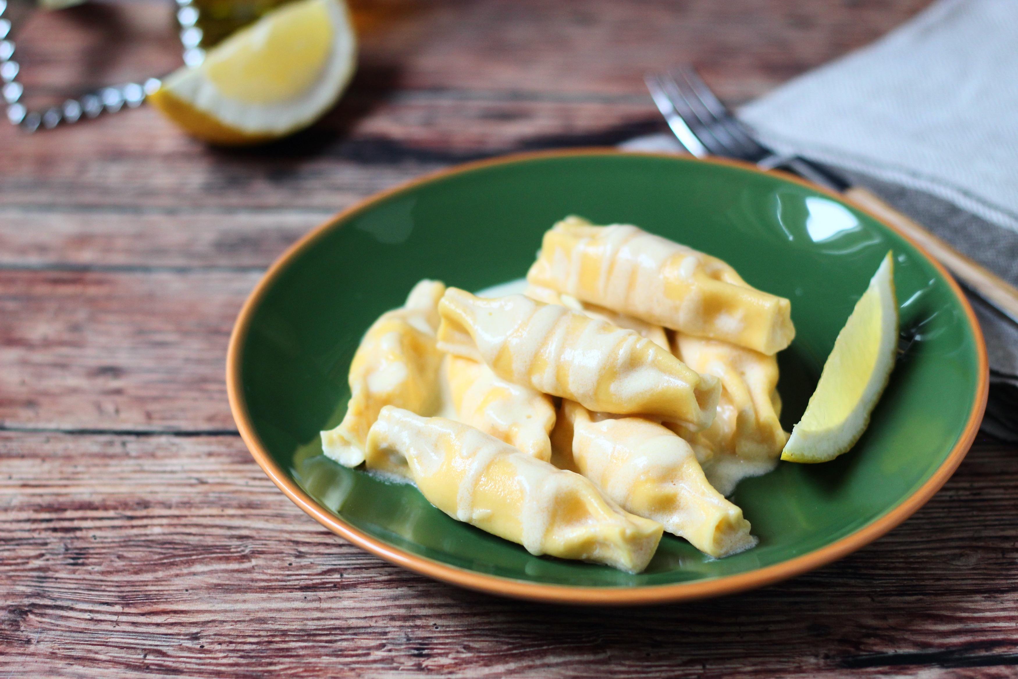 Lazackrémes caramelle citrommártással