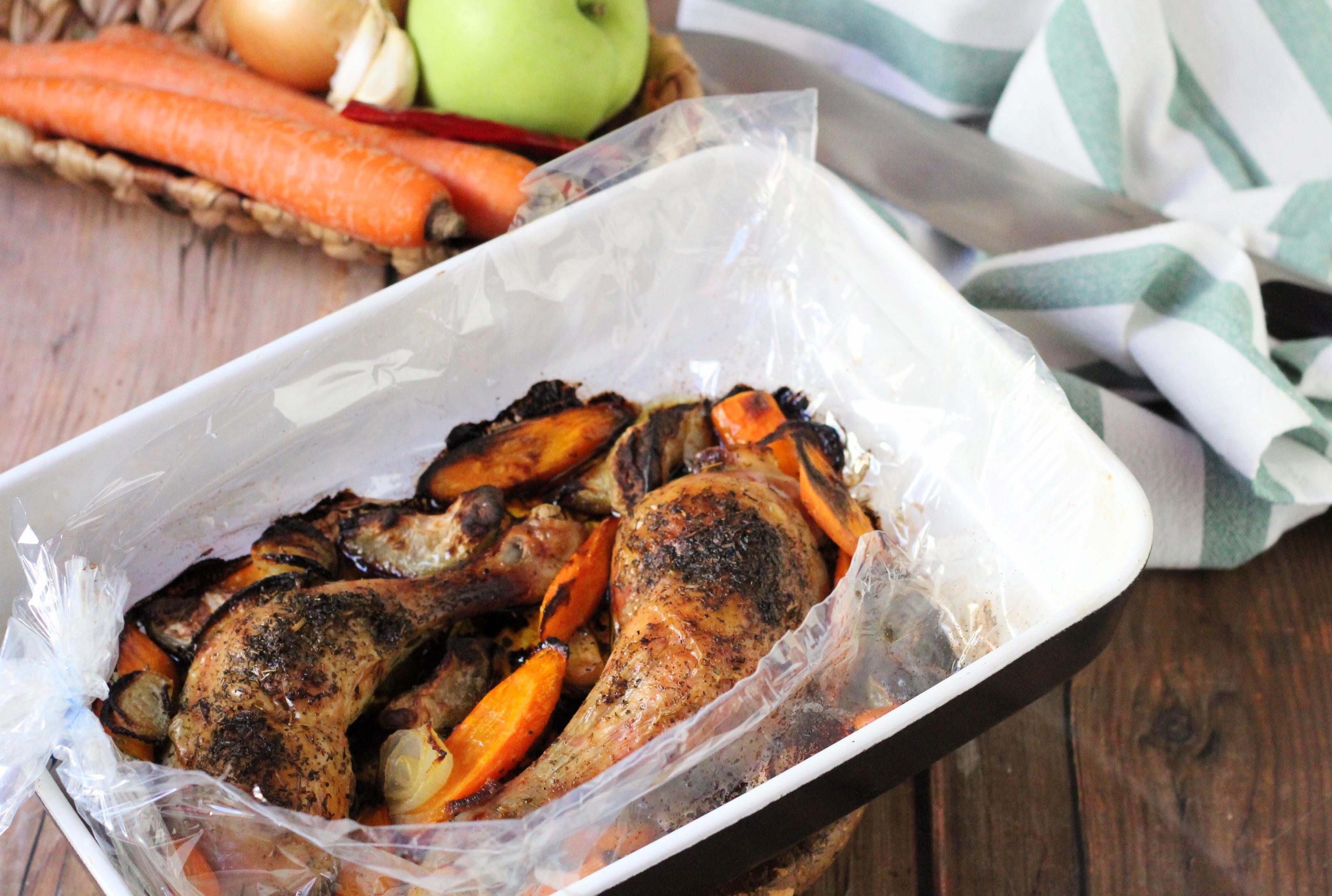 Provence-i sült csirke - Fűszeres sült finomság zöldségekkel