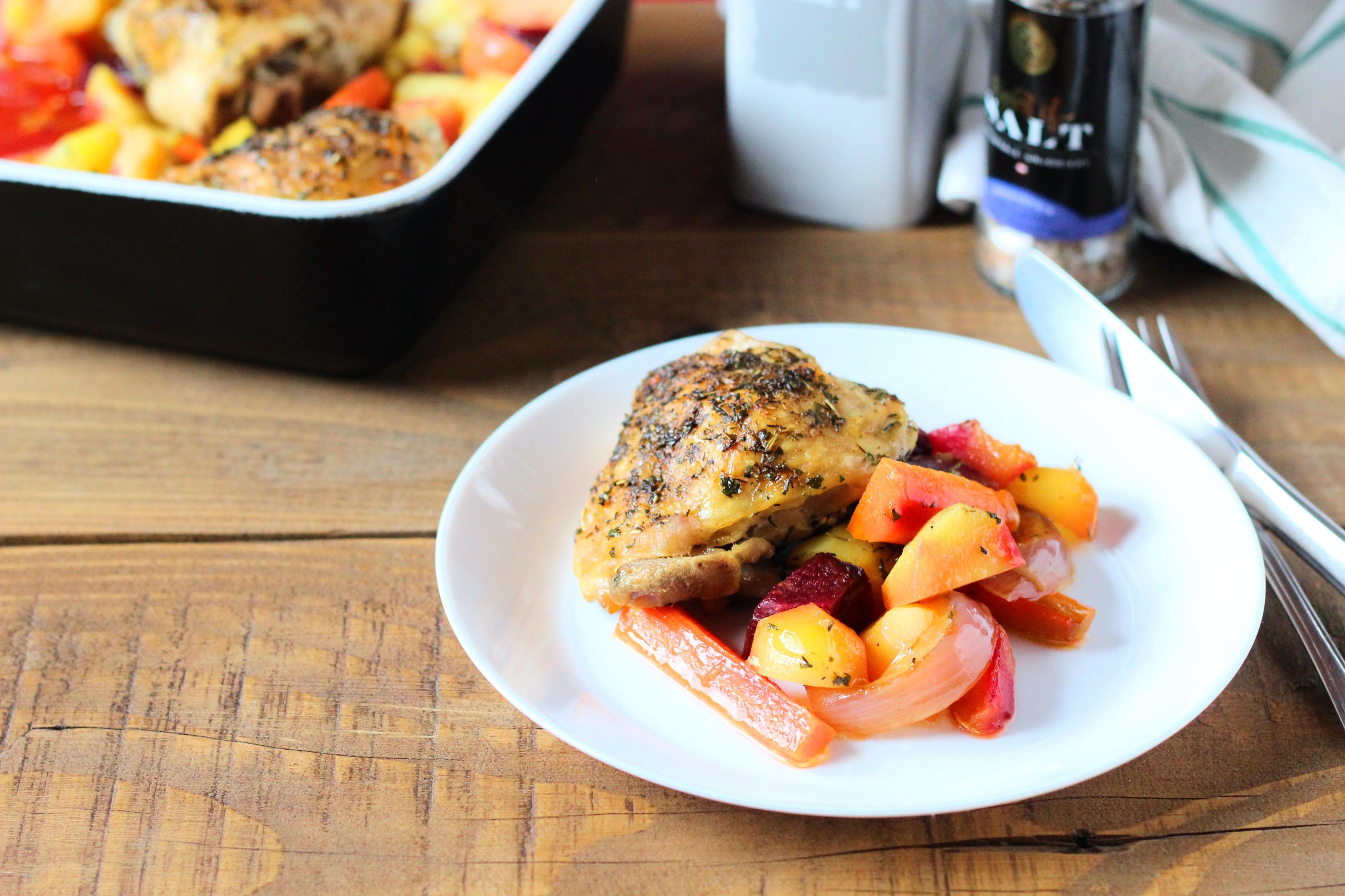 Provence-i csirke sült zöldségekkel