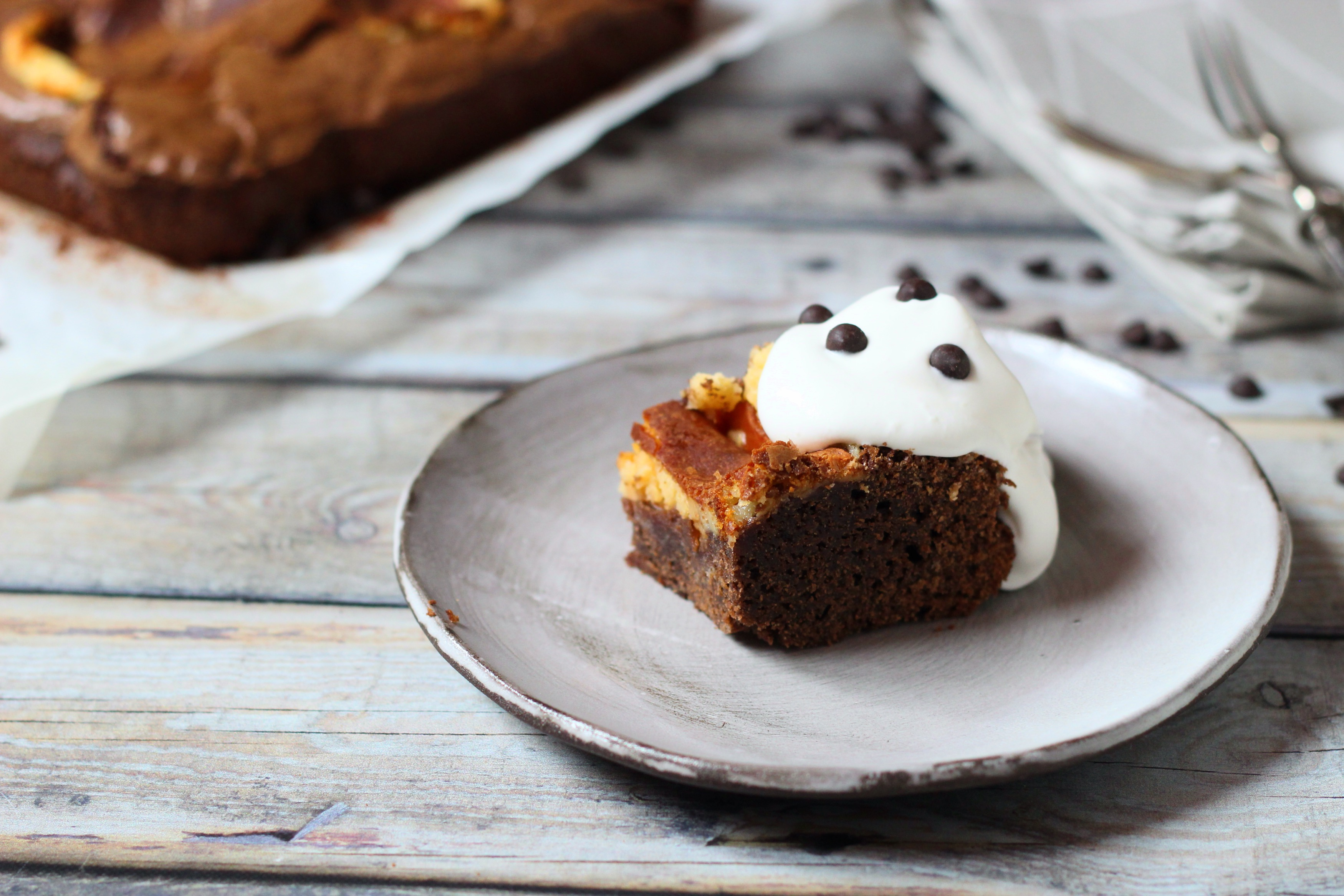 Sajttortás brownie