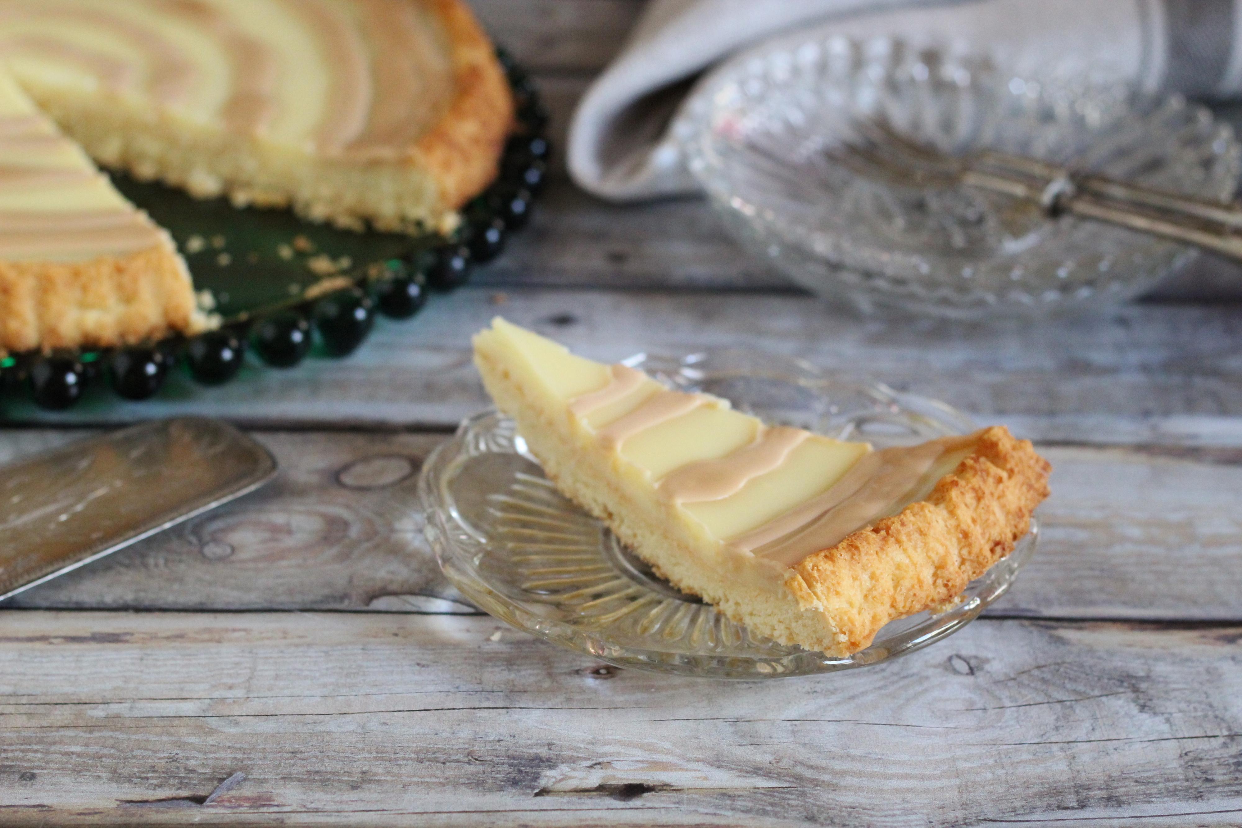 Vaníliás - sós karamellás torta