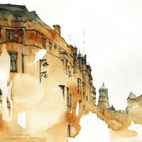 Csodaszép építészeti akvarell festmények a koreai Sunga Park festőművésztől