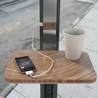 Napenergiával működő utcai telefontöltő