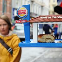 Burger King madáretető a modern városi madaraknak