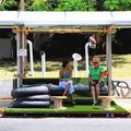 Zöld útvonal: várakozás a buszmegállóban Latin-Amerikai módra