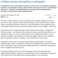 A Fidesz és a szakképzés