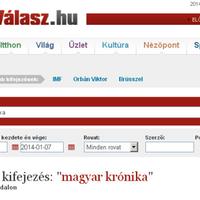 Magyar Krónika a közszolgálati és a jobboldali sajtóban