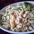 Szezámos tofu-rántottás tészta