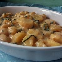Medvehagymás krumplifőzelék (vegán)