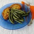 Zöldséggel töltött kölesfasírt (vegán)