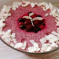 Erdei gyümölcsös-joghurtos chia puding