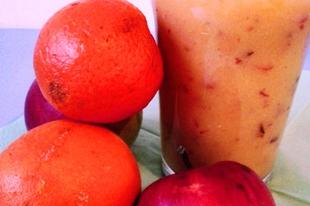 Narancs-turmix...Avagy Cook kapitány kincse almával párosítva.