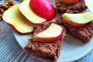 Almás-diós sütike liszt- és cukormentesen