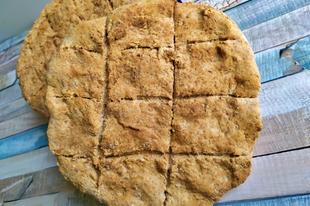 Kovásztalan kenyér forró levegő sütőben