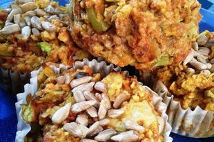 Cukkinis muffin (vegán)