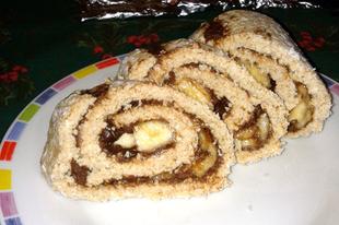 Banános-csokis zabtekercs (vegán, félig nyers)