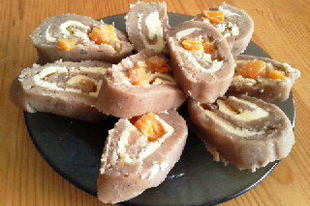 Mandarinos gesztenyetekercs