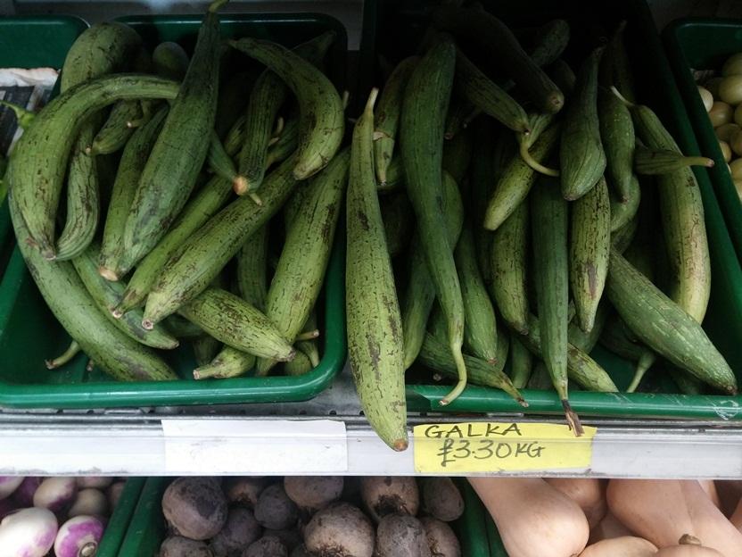 Galka - talán a cukkinihez hasonlítható? Egy receptet láttam vele a neten, paradicsomos szószos étel volt, egyfajta lecsóhoz hasonló.<br />