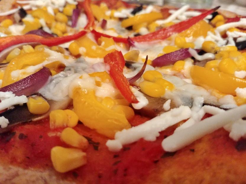 Megsült pizza