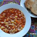 Minestrone leves fettuccine tésztával