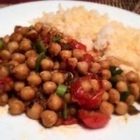 Csípős csicseriborsó curry