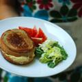 francia reggeli & croque végétarien