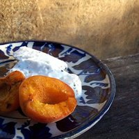 grillezett sárgabarack és kecskesajt
