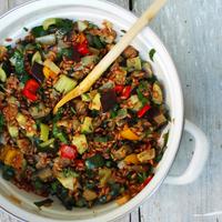 tönköly saláta sült zöldségekkel