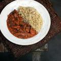 Munkahelyi (vega) ebéd & vörösboros - tejszínes zöldségragu bulgurral