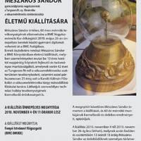 Mészáros Sándor kiállítása az OMIKK-ban