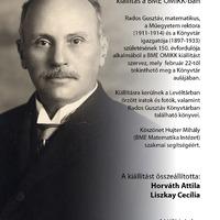 150 éve született Rados Gusztáv - kiállítás a BME OMIKK-ban