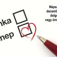 Csaknem teljes az egyetértés: december 24-e legyen munkaszüneti nap