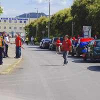 Útlezárásokkal tiltakoztak a vasasok az esztergomi Suzuki-gyárnál