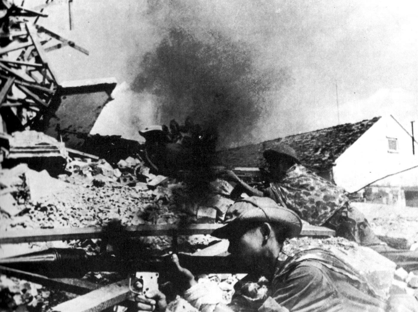 Vietkong erők támadásban Saigonban
