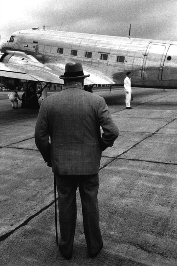 Sir Winston Churchill a reptéren