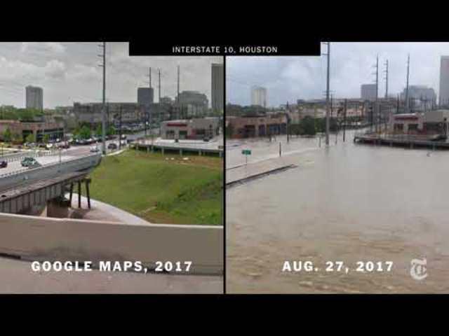 Drámai videó: Houston a Harvey hurrikán előtt és után