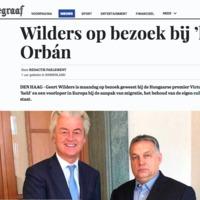 Orbán fogadta Wilderst, könyvet is kapott tőle