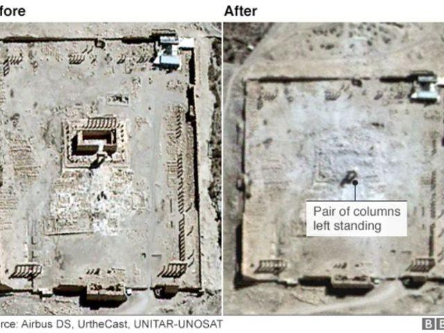 """""""Ledől Bél"""": Az ISIS megsemmisítette Palmüra jelképét"""