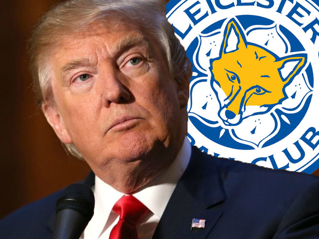 Donald Trump lett Amerika Leicestere