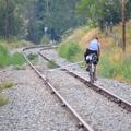 Kerékpár a sínen
