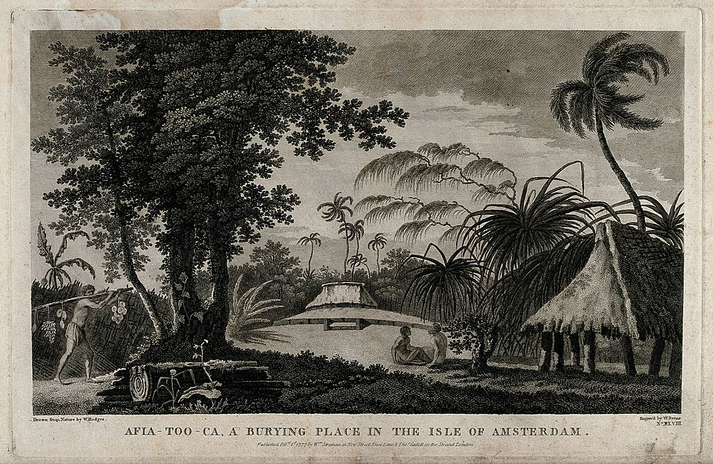 Régi temetkezési hely Tongatapu szigetén. (forrás: Wikipedia)