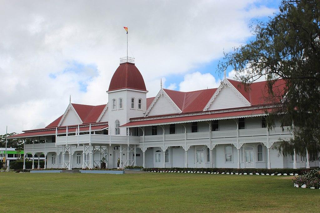 A királyi palota épülete Nuku'alofában.