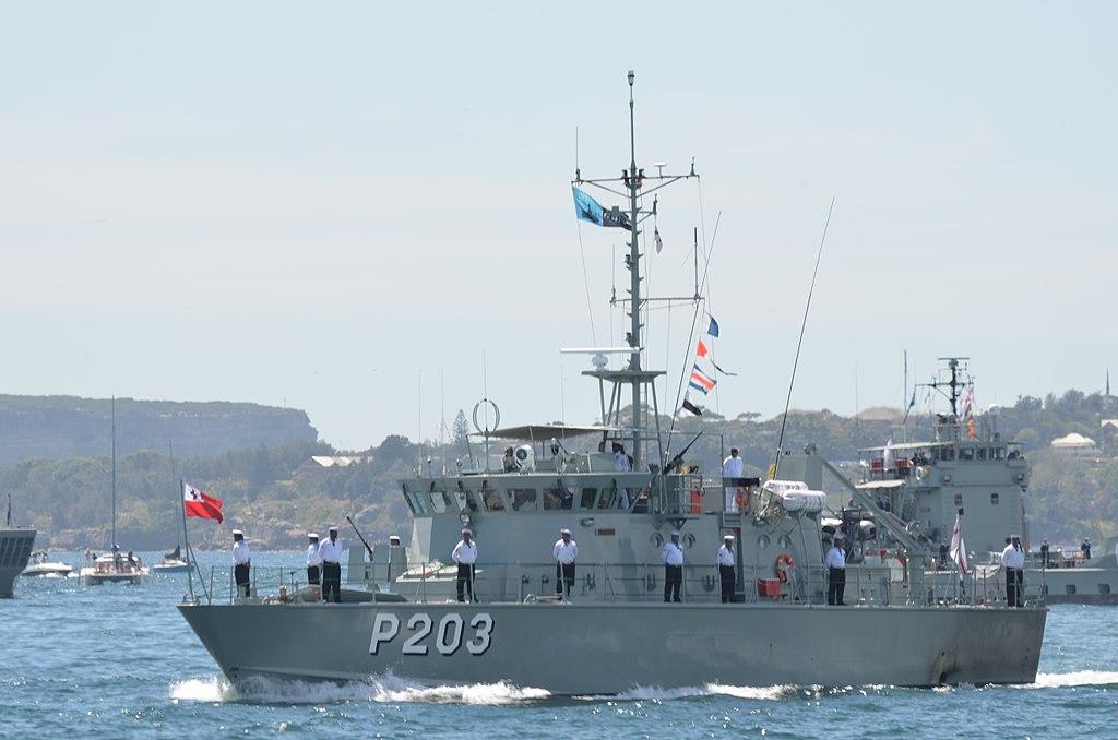A tongai haderő egyik járőrhajója. (forrás: Wikipedia)