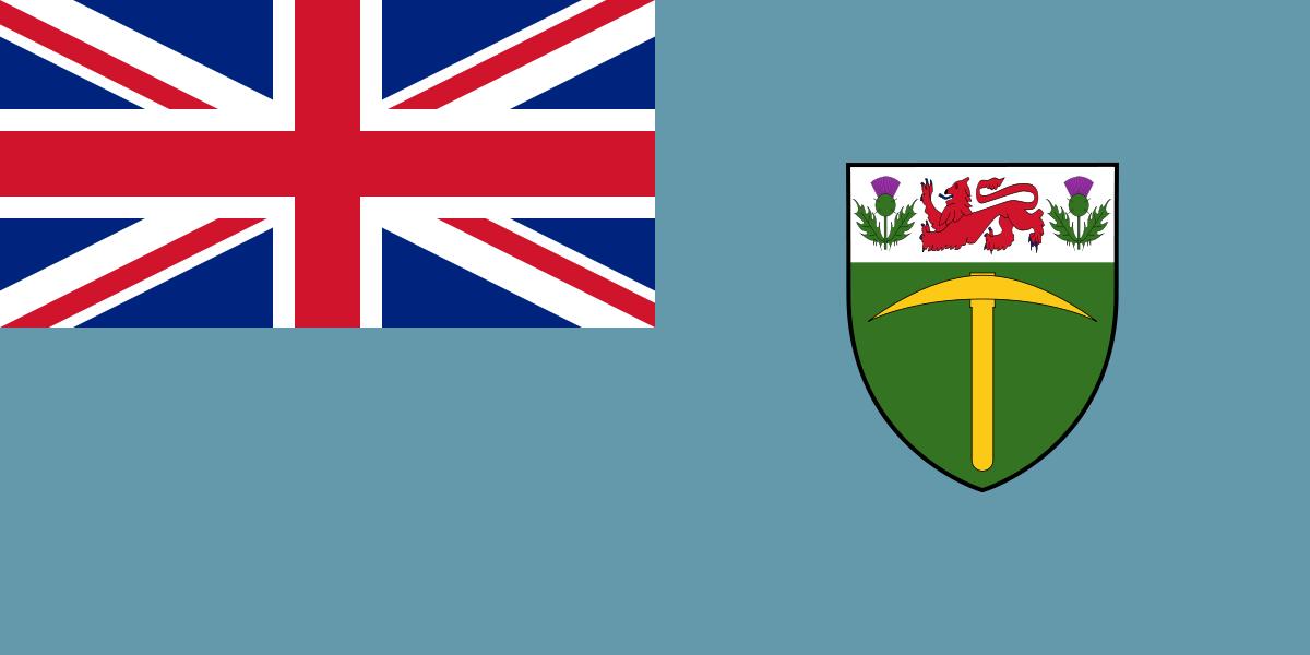 Az egykori brit gyarmat, Dél-Rodézia zászlaja. (forrás: Wikipedia)